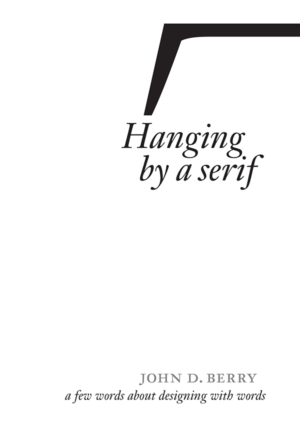 Cover of Hanging by a Serif