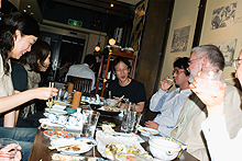Typographic dinner in Tokyo, 2007, with the editor of Idea magazine and colleagues