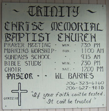 Second hand-lettered church sign