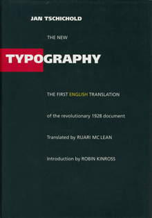 Cover of English-language edition of <em>Die Neue Typographie</em>, by Jan Tschichold