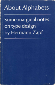 Cover of Hermann Zapf's book About Alphabets